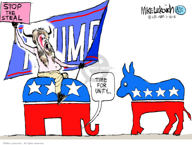 Mike Luckovich  Mike Luckovich's Editorial Cartoons 2021-01-12 partisan