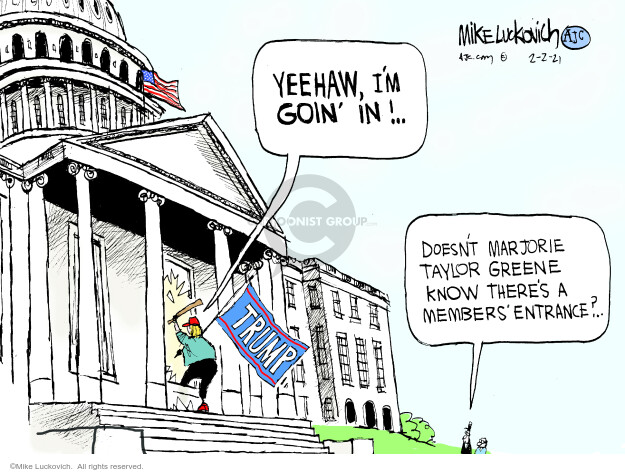 Mike Luckovich  Mike Luckovich's Editorial Cartoons 2021-02-02 Donald Trump