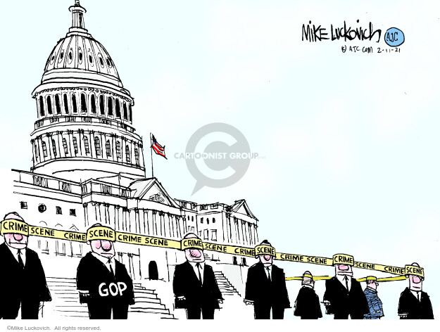 Mike Luckovich  Mike Luckovich's Editorial Cartoons 2021-02-11 Donald Trump