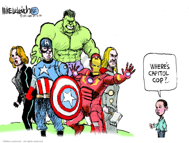 Mike Luckovich  Mike Luckovich's Editorial Cartoons 2021-02-12 insurrection