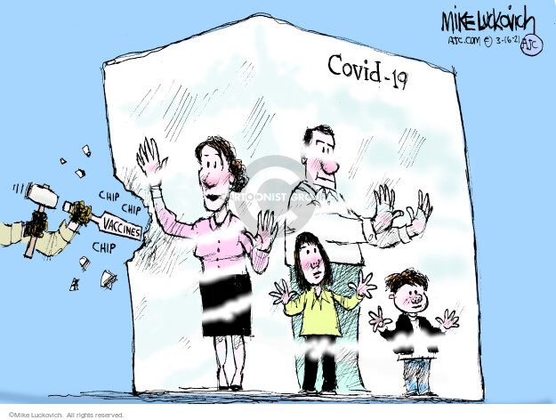 Mike Luckovich  Mike Luckovich's Editorial Cartoons 2021-03-16 COVID vaccine