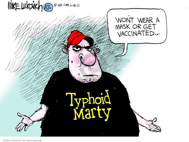 Mike Luckovich  Mike Luckovich's Editorial Cartoons 2021-04-18 outbreak