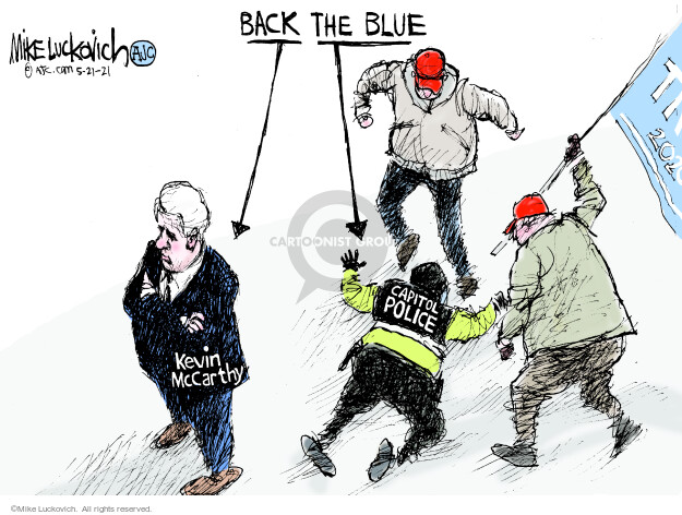 Mike Luckovich  Mike Luckovich's Editorial Cartoons 2021-05-21 insurrection