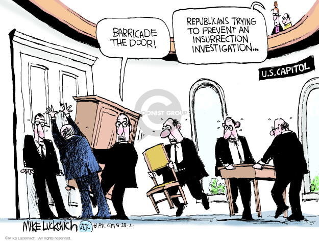 Mike Luckovich  Mike Luckovich's Editorial Cartoons 2021-05-25 insurrection