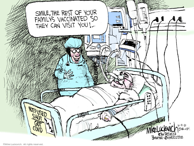Mike Luckovich  Mike Luckovich's Editorial Cartoons 2021-06-11 COVID vaccine