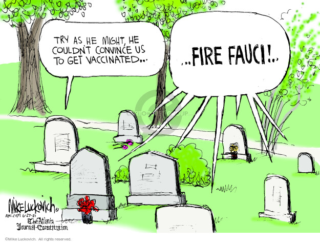 Mike Luckovich  Mike Luckovich's Editorial Cartoons 2021-06-27 COVID vaccine
