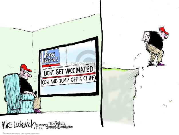 Mike Luckovich  Mike Luckovich's Editorial Cartoons 2021-07-11 COVID vaccine