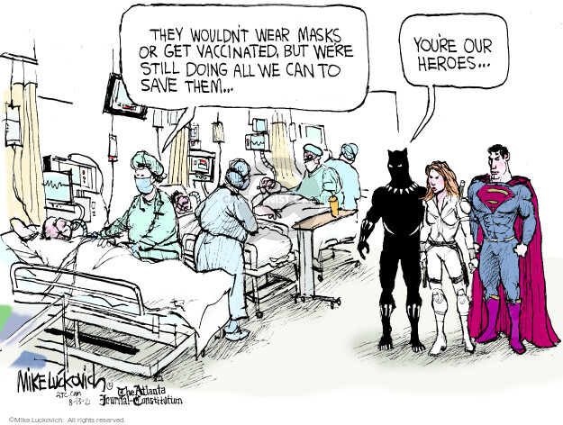 Mike Luckovich  Mike Luckovich's Editorial Cartoons 2021-08-13 COVID vaccine