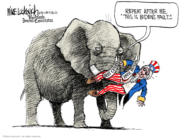 Mike Luckovich  Mike Luckovich's Editorial Cartoons 2021-09-26 republican