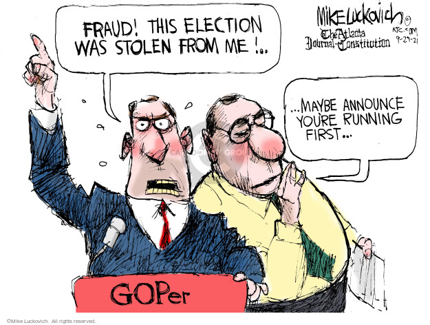 Mike Luckovich  Mike Luckovich's Editorial Cartoons 2021-09-29 republican