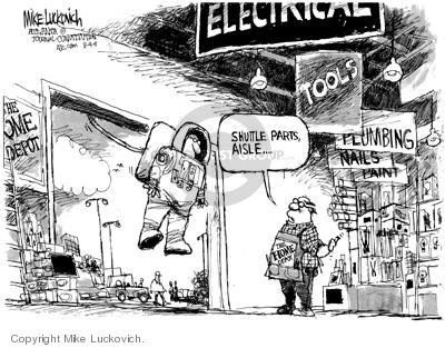 Cartoonist Mike Luckovich  Mike Luckovich's Editorial Cartoons 2005-08-05 discovery