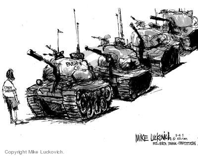 Mike Luckovich  Mike Luckovich's Editorial Cartoons 2005-08-15 tank