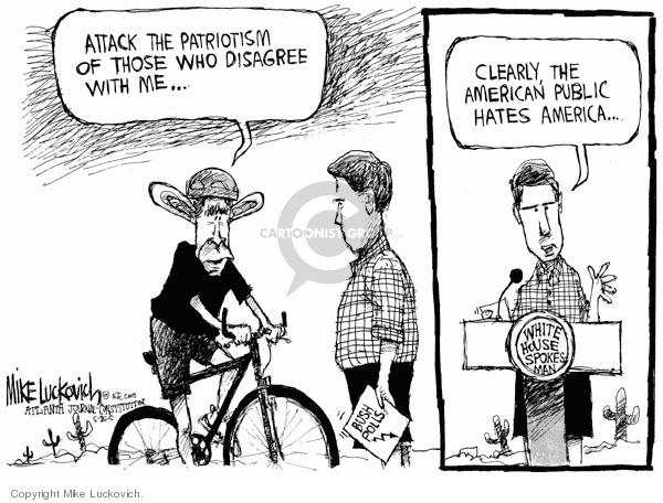 Cartoonist Mike Luckovich  Mike Luckovich's Editorial Cartoons 2005-08-25 attention