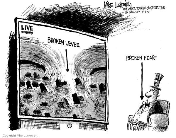 Mike Luckovich  Mike Luckovich's Editorial Cartoons 2005-08-31 Hurricane Katrina