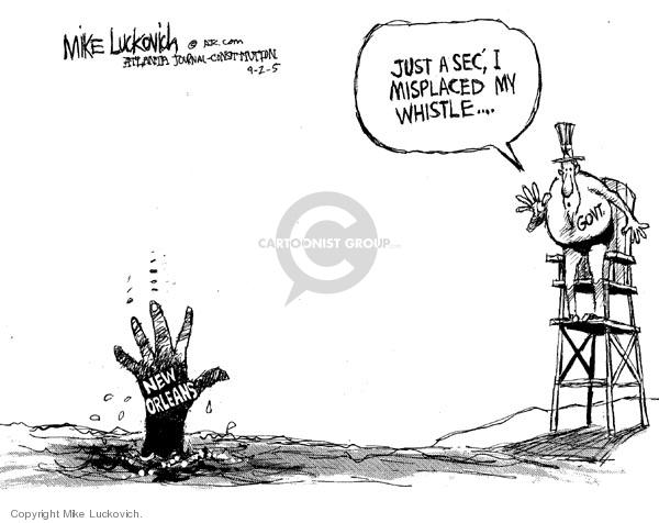 Mike Luckovich  Mike Luckovich's Editorial Cartoons 2005-09-02 death