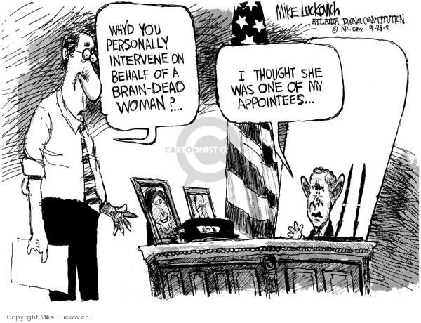 Cartoonist Mike Luckovich  Mike Luckovich's Editorial Cartoons 2005-09-28 woman