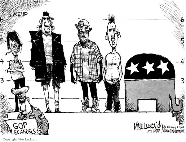Mike Luckovich  Mike Luckovich's Editorial Cartoons 2005-09-30 republican politician