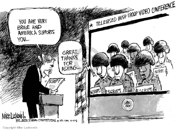 Cartoonist Mike Luckovich  Mike Luckovich's Editorial Cartoons 2005-10-16 answer