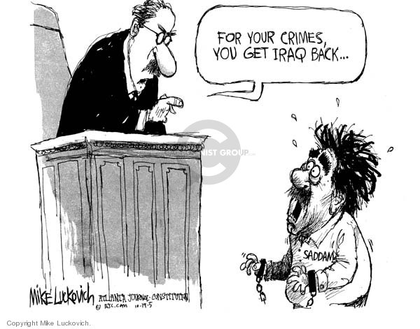 Cartoonist Mike Luckovich  Mike Luckovich's Editorial Cartoons 2005-10-19 courtroom