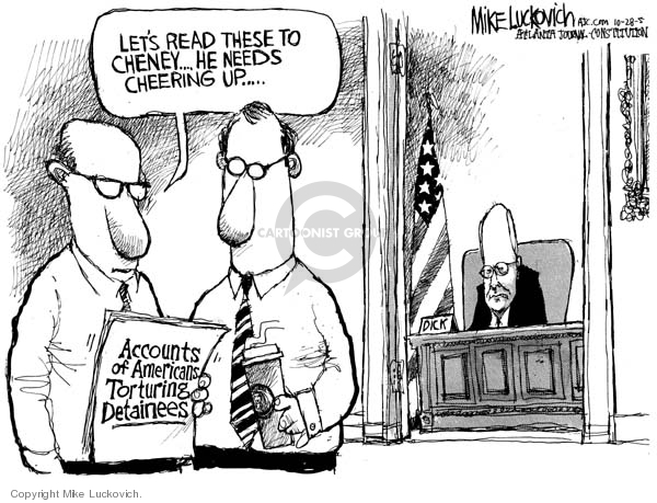 Cartoonist Mike Luckovich  Mike Luckovich's Editorial Cartoons 2005-10-28 CIA