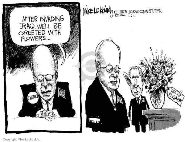 Mike Luckovich  Mike Luckovich's Editorial Cartoons 2005-11-07 flower bouquet