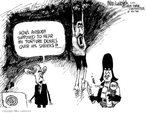 Cartoonist Mike Luckovich  Mike Luckovich's Editorial Cartoons 2005-11-13 CIA