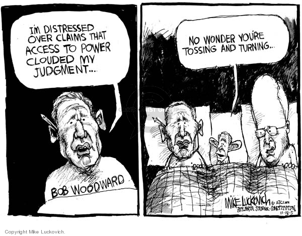 Cartoonist Mike Luckovich  Mike Luckovich's Editorial Cartoons 2005-11-18 claim