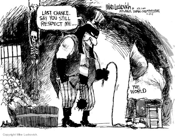 Cartoonist Mike Luckovich  Mike Luckovich's Editorial Cartoons 2005-11-27 prison
