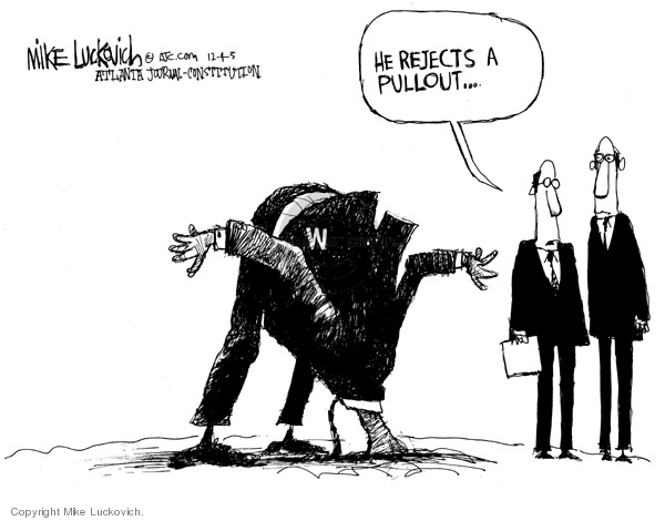 Cartoonist Mike Luckovich  Mike Luckovich's Editorial Cartoons 2005-12-04 number