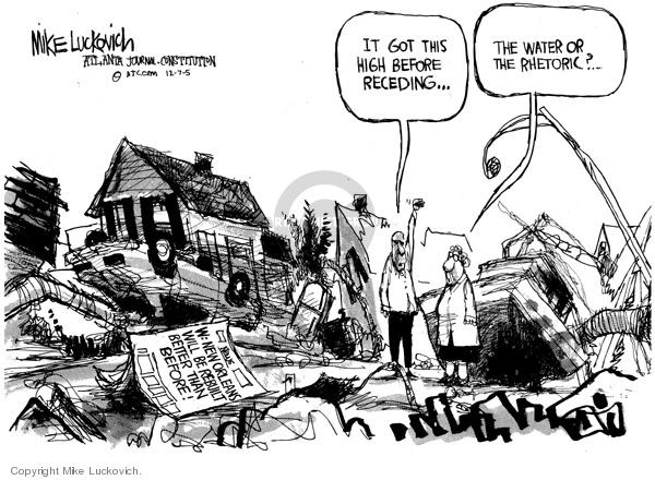 Mike Luckovich  Mike Luckovich's Editorial Cartoons 2005-12-07 Hurricane Katrina