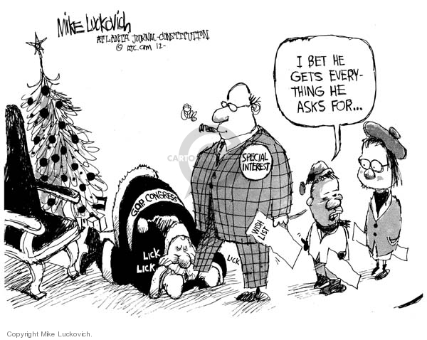 Mike Luckovich  Mike Luckovich's Editorial Cartoons 2005-12-09 republican politician