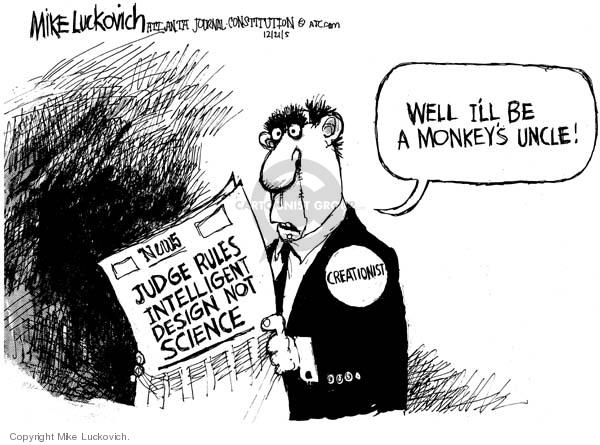 Cartoonist Mike Luckovich  Mike Luckovich's Editorial Cartoons 2005-12-21 judicial branch