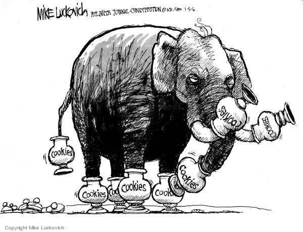 Cartoonist Mike Luckovich  Mike Luckovich's Editorial Cartoons 2006-01-05 jar