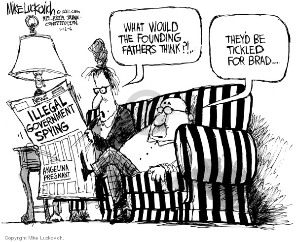Mike Luckovich  Mike Luckovich's Editorial Cartoons 2006-01-12 separation of powers