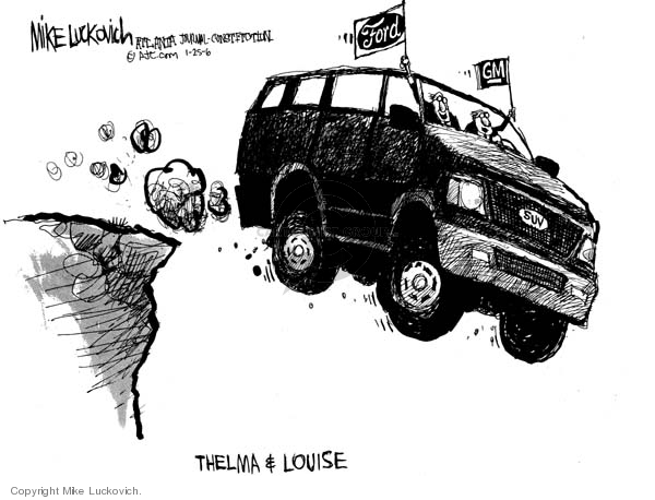 Mike Luckovich  Mike Luckovich's Editorial Cartoons 2006-01-25 cliff