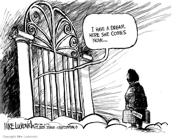 Mike Luckovich  Mike Luckovich's Editorial Cartoons 2006-02-01 death