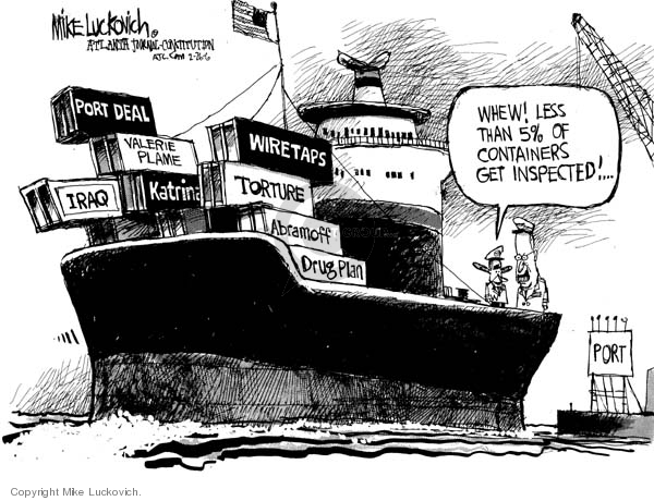 Cartoonist Mike Luckovich  Mike Luckovich's Editorial Cartoons 2006-02-26 authority