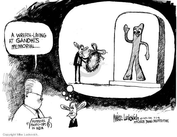 Cartoonist Mike Luckovich  Mike Luckovich's Editorial Cartoons 2006-03-02 communication