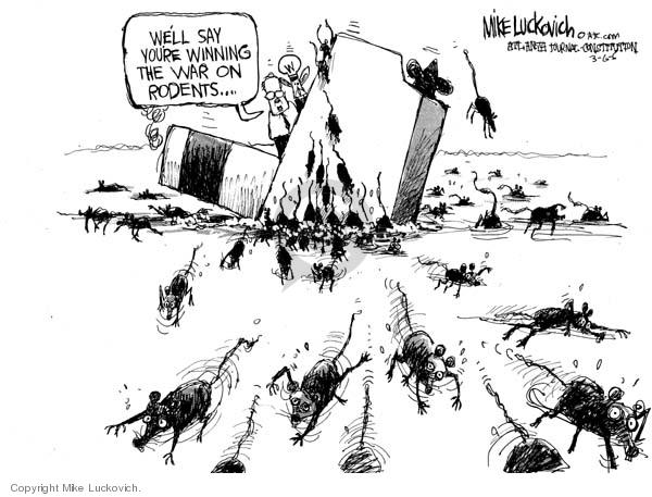 Mike Luckovich  Mike Luckovich's Editorial Cartoons 2006-03-06 abandon ship