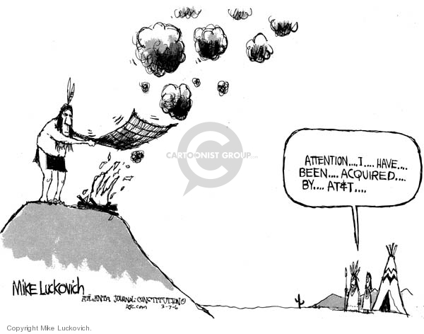 Cartoonist Mike Luckovich  Mike Luckovich's Editorial Cartoons 2006-03-07 attention