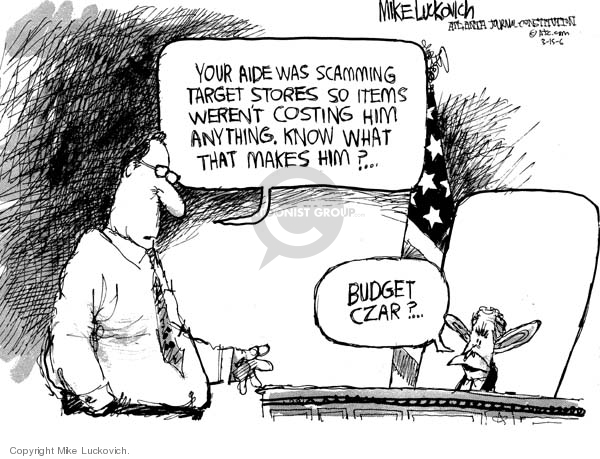 Mike Luckovich  Mike Luckovich's Editorial Cartoons 2006-03-15 federal budget