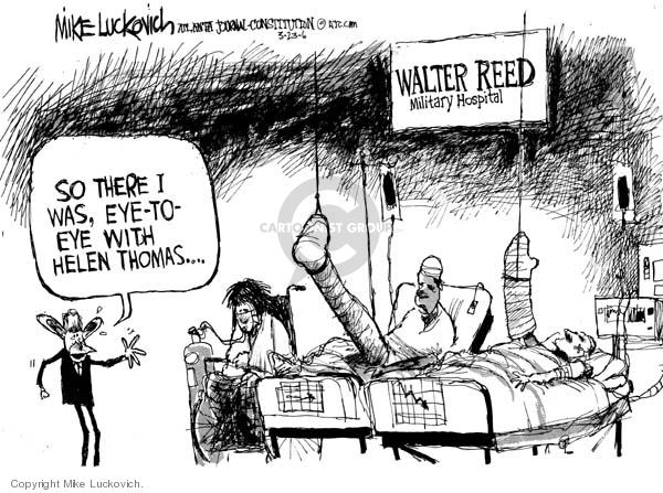 Cartoonist Mike Luckovich  Mike Luckovich's Editorial Cartoons 2006-03-23 combat