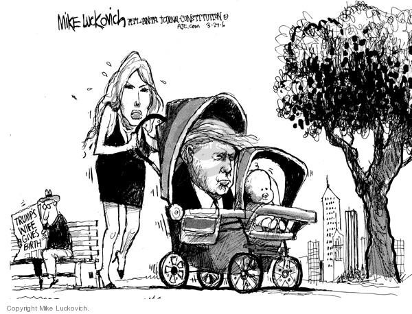 Cartoonist Mike Luckovich  Mike Luckovich's Editorial Cartoons 2006-03-26 Melania Trump