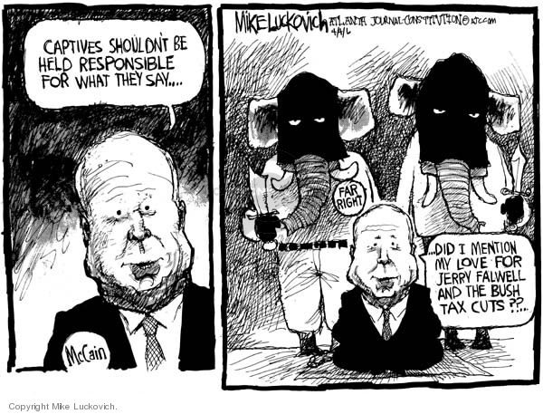 Cartoonist Mike Luckovich  Mike Luckovich's Editorial Cartoons 2006-04-04 responsible