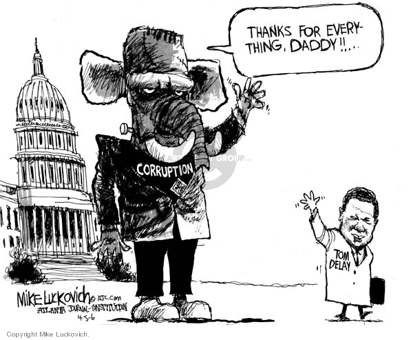 Mike Luckovich  Mike Luckovich's Editorial Cartoons 2006-04-06 corruption