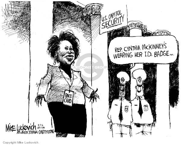 Mike Luckovich  Mike Luckovich's Editorial Cartoons 2006-04-07 eye