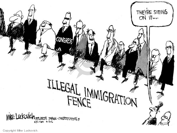 Mike Luckovich  Mike Luckovich's Editorial Cartoons 2006-04-11 immigration bill
