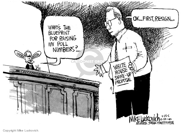 Cartoonist Mike Luckovich  Mike Luckovich's Editorial Cartoons 2006-04-25 number