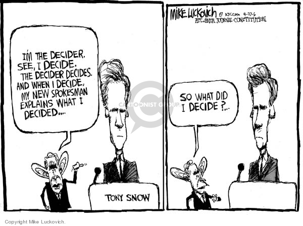 Cartoonist Mike Luckovich  Mike Luckovich's Editorial Cartoons 2006-04-27 communication