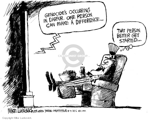 Mike Luckovich  Mike Luckovich's Editorial Cartoons 2006-04-28 death